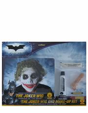 Dark Knight Costume Accessory, Mens Batman Joker Wig and Makeup Kit Style 3