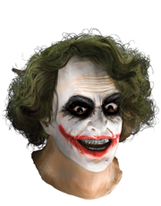Dark Knight Costume Accessory, Mens Batman Joker Full Mask with Hair
