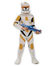 Star Wars Costume, Kids Clone Wars Clone Trooper Commander Cody Costume Style 1