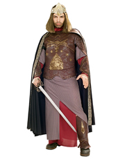 Lord of the Rings Costume, Mens King Aragorn Costume