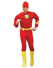 Flash Costume, Mens Flash Muscle Costume