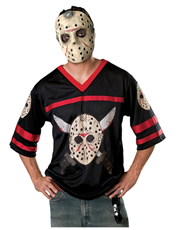 Friday the 13th Costume, Mens Jason Voorhees Hockey Shirt Costume