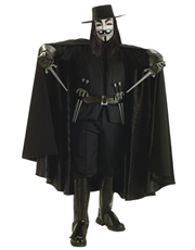V For Vendetta Costume, Mens V For Vendetta Grand Heritage Costume Style 2
