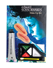 Edwards Scissorhands Costume Accessory, Mens Edwards Scissorhands Makeup Kit