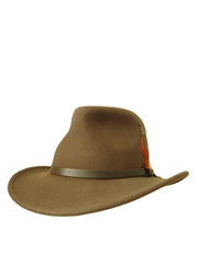 Outback Crushable, Wool Felt Hat, Olive