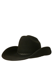 Cattleman Crushable Wool Felt Hat, Black