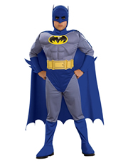 Batman Costume, Kids Batman Brave Bold Muscle Costume