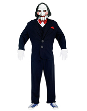 Saw Costume, Mens Jigsaw Puppet Costume